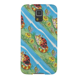 CatABug Cat Ladybug Bumble Bee Mice & Flower Art Case For Galaxy S5