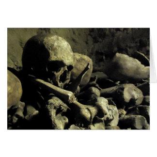 catacomb bones card