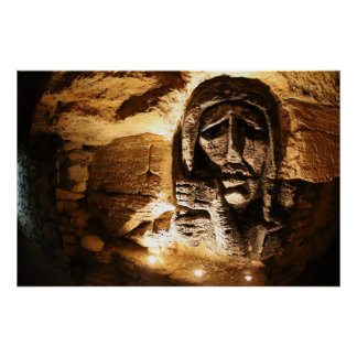 Catacomb Wall Carving Poster