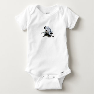 Catahoula Cur Laying Down Baby Onesie