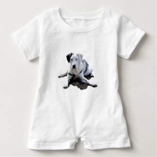 Catahoula Cur Laying Down Baby Romper
