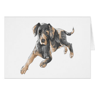 Catahoula Leopard Dog Card