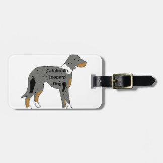 catahoula leopard dog name silo color luggage tag