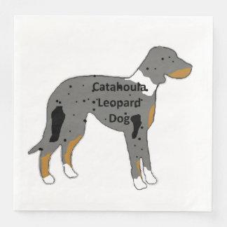 catahoula leopard dog name silo color paper dinner napkin