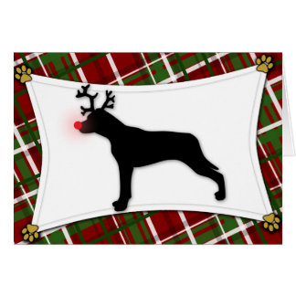 Catahoula Leopard Dog Reindeer Christmas Card