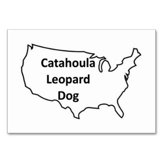 catahoula leopard dog United-States-Outline.png Table Cards