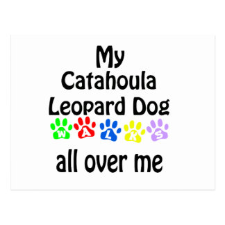 Catahoula Leopard Dog Walks Design Postcard