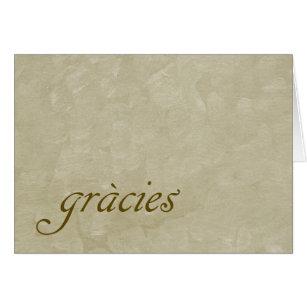 Catalan Buff Thank You Card saying Gracies