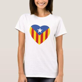 Catalan Flag Heart T-Shirt