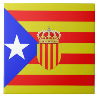 Catalan flag tile