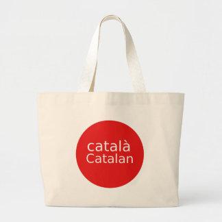 Catalan Language Design Large Tote Bag
