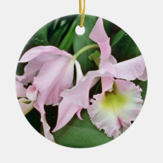 Catalaya orchid  flowers ceramic ornament