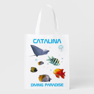 Catalina - Diving Paradise Reusable Grocery Bags