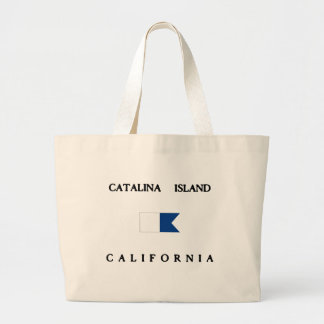 Catalina Island California Alpha Dive Flag Large Tote Bag