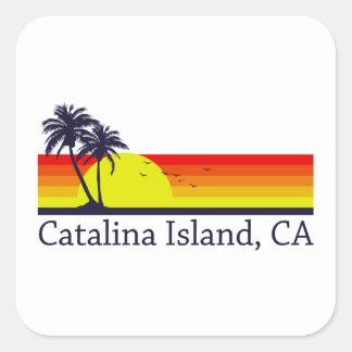 Catalina Island California Square Sticker
