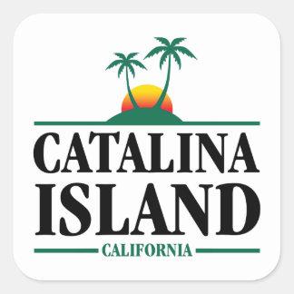 Catalina Island Square Sticker