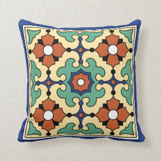 Catalina Island Tile Vintage 1920s Design Throw Pillow