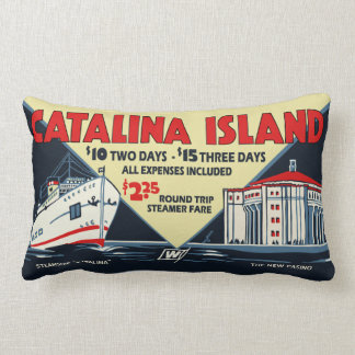 Catalina Island Vintage Art - Pillow