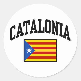 Catalonia Classic Round Sticker