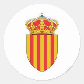 Catalonia Coat of Arms Classic Round Sticker