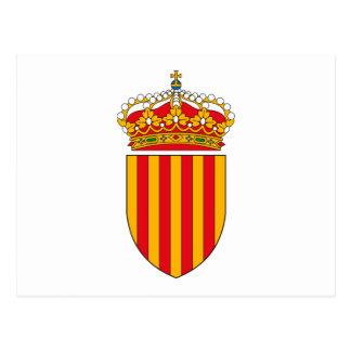 Catalonia Coat of Arms Postcard