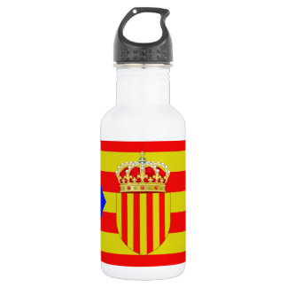 Catalonia flag 532 ml water bottle