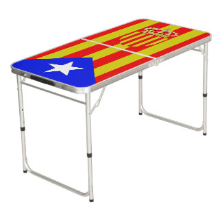 Catalonia flag beer pong table
