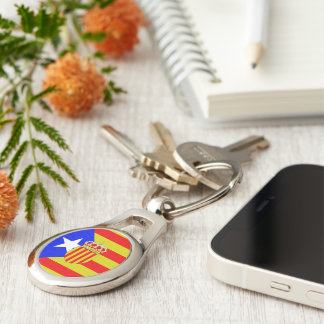 Catalonia flag keychain
