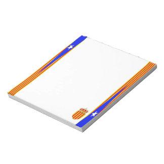 Catalonia flag notepad