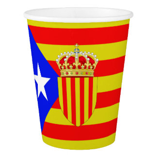 Catalonia flag paper cup