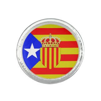 Catalonia flag photo rings