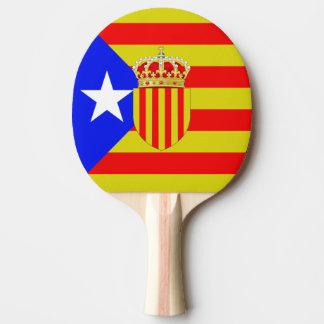 Catalonia flag ping pong paddle