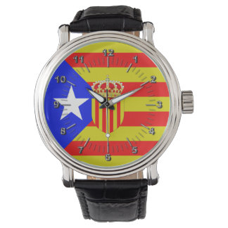 Catalonia flag watch