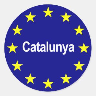 cataloniaeuropeanstate2 classic round sticker