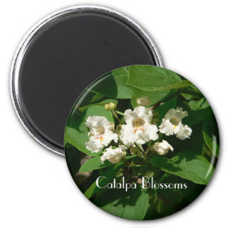 Catalpa Blossoms 2 Inch Round Magnet