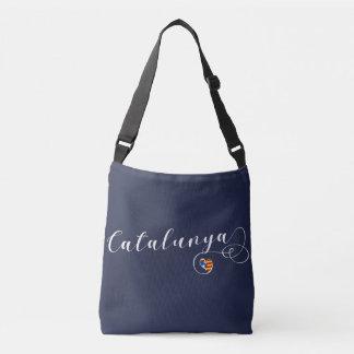 Catalunya Heart Bag, Catalonia Estelada Flag Crossbody Bag