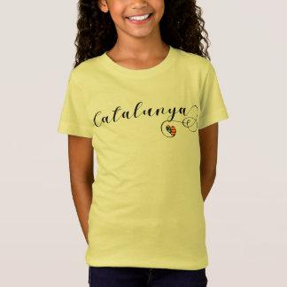 Catalunya Heart Tee Shirt, Catalan Estelada
