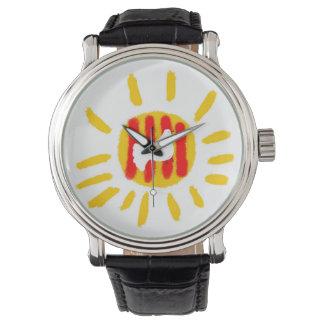 Catalunya Sun ,Patriotic Symbol, Catalonia Wrist Watches