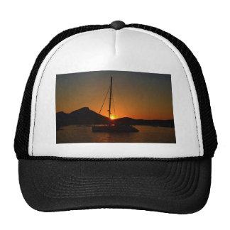 Catamaran at sunset Ibiza.JPG Trucker Hat