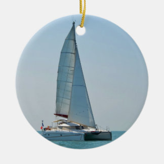 Catamaran Clara Ceramic Ornament