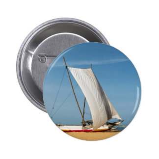 Catamaran, Negombo Beach, Sri Lanka 2 Inch Round Button