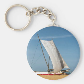 Catamaran, Negombo Beach, Sri Lanka Basic Round Button Keychain