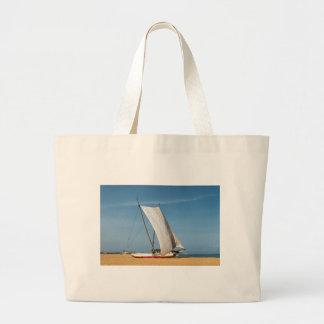 Catamaran, Negombo Beach, Sri Lanka Large Tote Bag