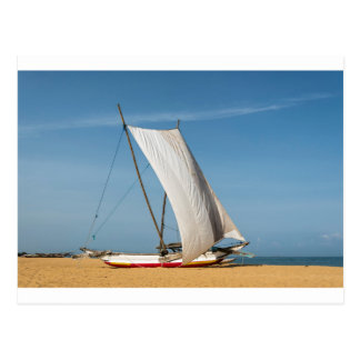 Catamaran, Negombo Beach, Sri Lanka Postcard
