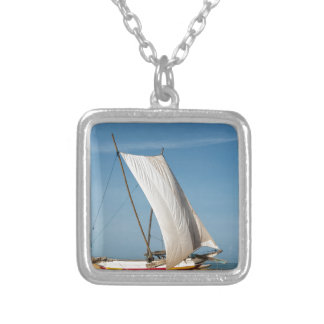 Catamaran, Negombo Beach, Sri Lanka Silver Plated Necklace