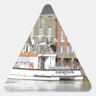 Catamaran Workboat Genesis Triangle Sticker