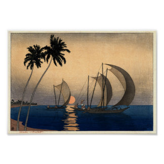 Catamarans in a Twilight Breeze Poster