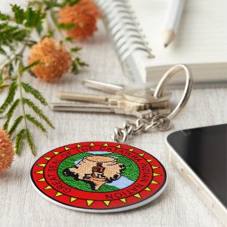 Catawba Nation Basic Round Button Keychain