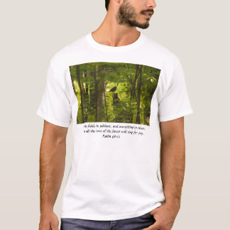 Catbird in the Forest Green T-Shirt