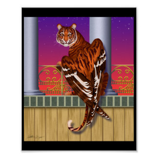 Catbird winged-tiger poster